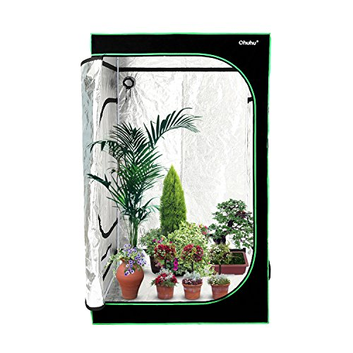 "51L3iIRZ %2BL - Ohuhu Grow Tent, 48""x 48""x 80"" Mylar Hydroponic Plant Growing Tent for Indoor Gardening and Germination"