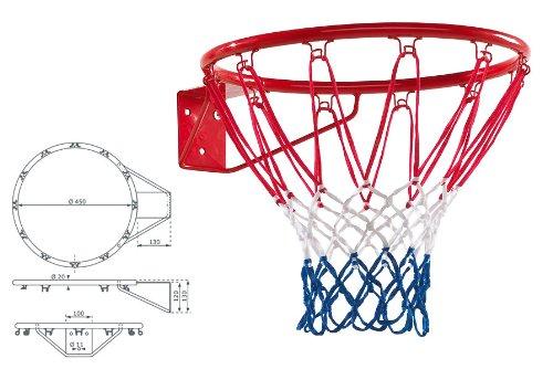 Netz Selber Machen basketballkorb mit ring durchmesser 45 cm rot mit netz amazon de