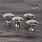 CoZroom Stainless Steel Cabinet Hardware Round Knob--25 Pack