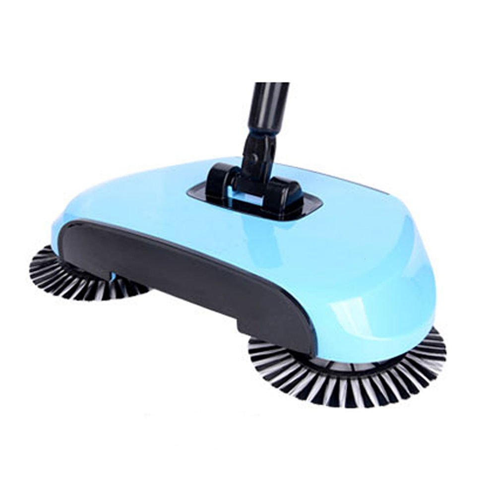 Sweeping Machine without Electricity Automatic Hand Push Sweeper Broom Household Cleaning (light blue) Teckcool