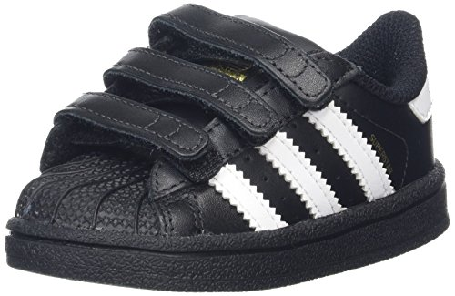 adidas Unisex Baby Superstar CF I Lauflernschuhe Schwarz (Core Black/footwear White/core Black)