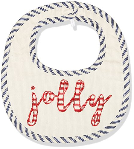 Mud Pie Baby Holiday Christmas Santa Bib and Sock Two Piece Gift Set, White, 0-12 Months