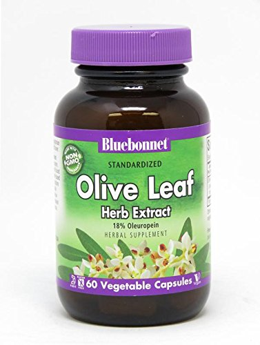 Bluebonnet Nutrition Standardized Olive Leaf Herb Extract, 60 ()