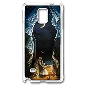 Samsung Galaxy Note 4 Case, DIY galaxy note 4 cases PC Transparent With pattern Sisters in the Moonlight