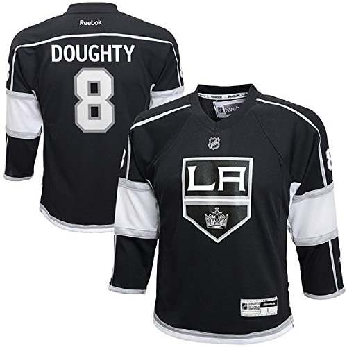 Drew Doughty Los Angeles Kings Black NHL Youth Reebok Replica Home Jersey (Large/X-Large 14-20)