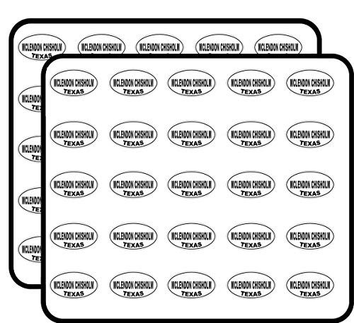 Chisholm Design - McLendon Chisholm Texas Oval Sticker for Scrapbooking, Calendars, Arts, Kids DIY Crafts, Album, Bullet Journals