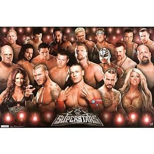 (22x34) WWE Superstars Wrestling Sports Poster Print Sports Poster Print, 22x34