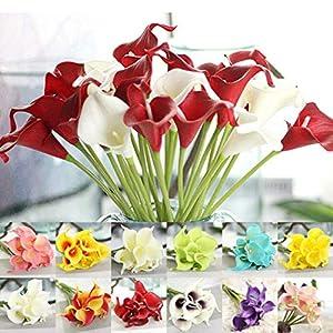 Bulges Artificial Flowers Calla Lily Simulation Decoration Artificial Fake Flower 1PC 14