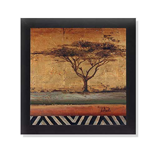 African Dream Acacia II Black Framed Art Print Poster 12x12