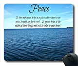 Inspirational Bible Verse Quotes Peace Oblong Mouse Pad in 240mm*200mm*3mm VQ0711025