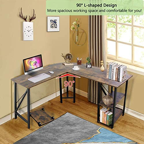 59″x55″ Large L Shaped Corner Table Computer Desk