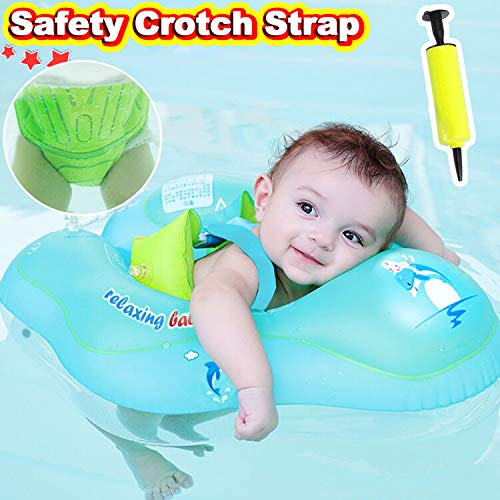 【Anti-Slip Crotch】Baby Swimming Float Ring-Baby Spring Floats Swim Trainer Newborn Baby Kid Toddler Age 3-12 Month 11-22 Lbs Summer Outdoor Beach Water Bath Toy Swimming Pool Accessories