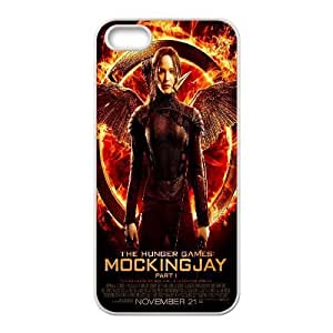 For Iphone 5C Phone Case Cover The Hunger Games Quotes Mockingjay, Mens Designer The Hunger Games Cases Yearinspace, {White}