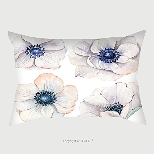 Custom Satin Pillowcase Protector Handpainted Watercolor Flowers Set In Vintage Style It S Perfect For Greeting Cards Wedding 536595859 Pillow Case Covers Decorative by chaoran