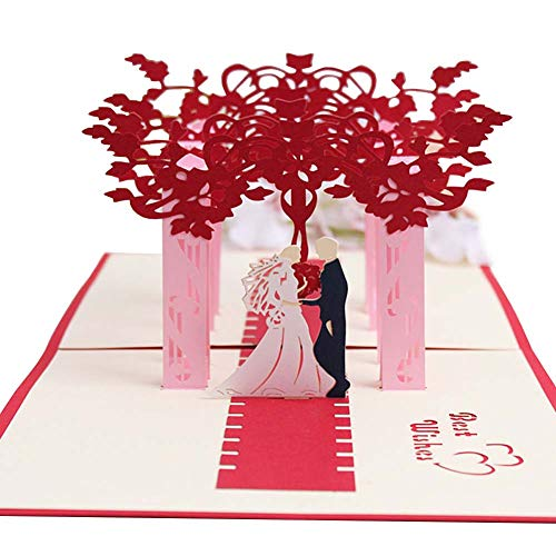 3D Handmade Wedding Cassette Envelope Romantic Suburban Wedding Blank Page Wedding Party Use 4.1×6.1 in,100PCS (Romantics Cassette The)