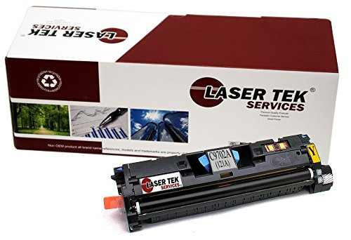 Laser Tek Services Compatible 121A Toner Cartridge Replacement for the HP C9702A. (Yellow, 1-Pack)