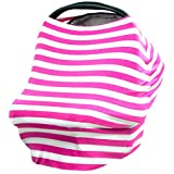 JLIKA Baby Car Seat Covers Stretchy Infant Canopy and Nursing cover for breastfeeding
