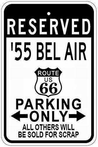 WallAdorn 1955 55 Chevy Bel Air Route 66 Parking s Cartel de ...