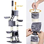 Yaheetech Large Cat Tree Condo Furniture Adjustable Height 93-103inch