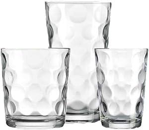 Home Essentials Eclipse Complete Kit Hiball Glasses, 18-piece Set