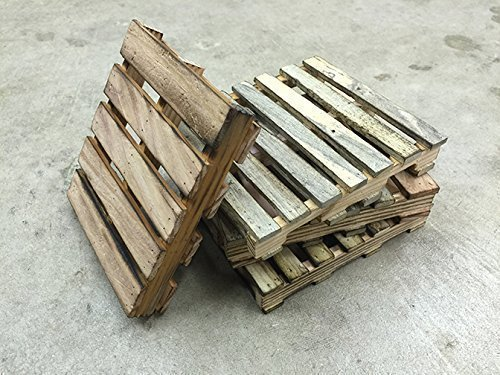 Miniature pallet coasters - set of 4 (Outdoor Coasters compare prices)