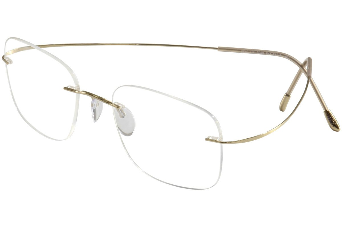 Silhouette Eyeglass the Must Collection Gold 7610-6051