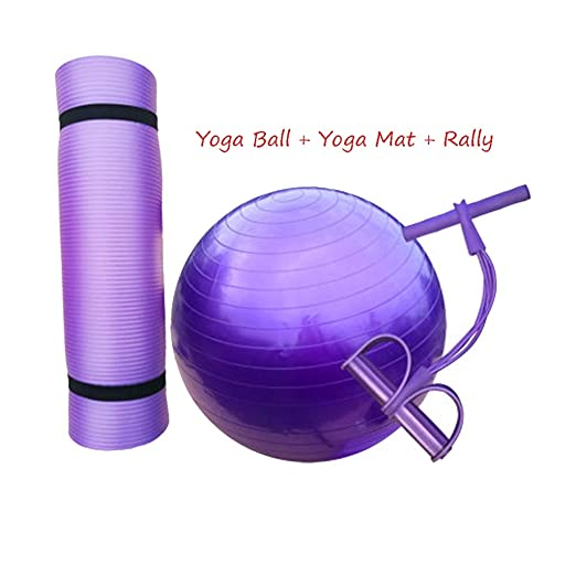 GUORONG Yoga Ball + Yoga Mat + Rally, pelota de gimnasia para ...
