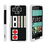 MINITURTLE Case Compatible w/ [HTC Desire 520 Case, Desire 520 Case][Snap Shell] Hard Plastic Slim Fitted White Snap On Case Protector Cover w/ Unique Designs Game Controller For Sale