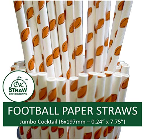 Biodegradable Paper Straws by OKSTRAW - Restaurants, Cafes, Bars, Night Clubs, Party Supplies, Birthday, Wedding, Bridal Shower, Baby Shower Decorations (100, - Straw Sheet