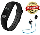 Premium Design Redmi 2 Compatible M2 Smart Band with OLED display, heart rate sensor & wireless Sports headset ( 1 Year Replacement warranty )