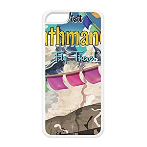 Kathmandu White Silicon Rubber Case for iPhone 5C by Nick Greenaway + FREE Crystal Clear Screen Protector