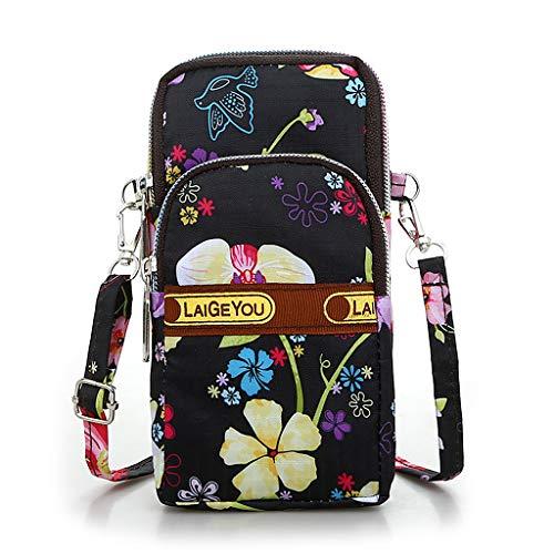ForHe Women Colorful Crossbody Mobile Phone Shoulder Bag Pouch Belt Handbag Purse Wallet Wrist Bag For Phone,Nylon Waterproof,Sweatproof (Best Cheap Mobile Deals)