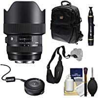Sigma 14-24mm f/2.8 ART DG HSM Zoom Lens with USB Dock + Backpack + Kit for Canon EOS Digital SLR Cameras