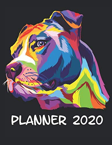 Planner-2020-Planner-Weekly-and-Monthly-for-2020-Calendar-Business-Planners-Organizer-For-To-do-list-85-x-11-with-Pitbull-Dog-Doggy-Lover-Pet-Portrait-Colorful-Breed