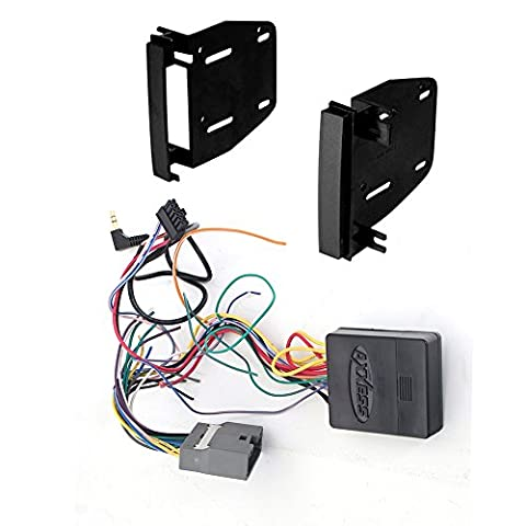 CHRYSLER JEEP RAM DODGE ( SELECT MODELS ) AFTEMARKET DOUBLE 2 DIN CD/DVD PLAYER CAR STEREO INSTALL KIT DASH MOUNTING KIT + STEERING WHEEL CONTROL INTERFACE HARNESS COMPLETE INSTALLATION - Steering Wheel Video Control Interface