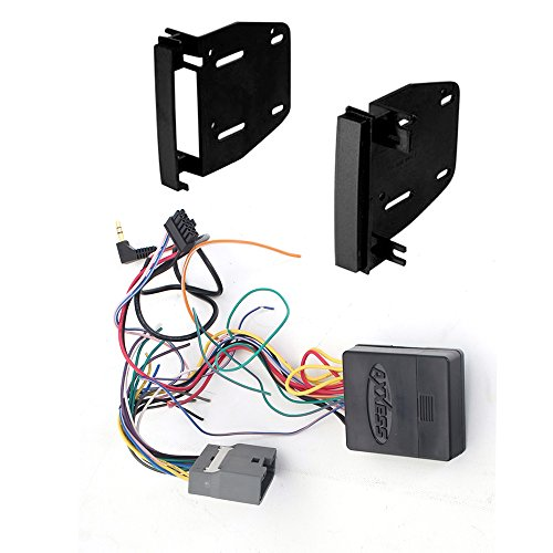 Interface Onstar Scosche - Chrysler Jeep RAM Dodge (Select Models) AFTEMARKET Double 2 DIN CD/DVD Player CAR Stereo Install KIT Dash MOUNTING KIT + Steering Wheel Control Interface Harness Complete Installation KIT