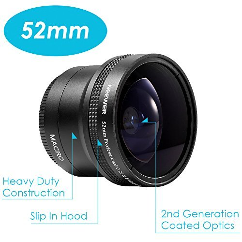 Neewer 52mm Threaded Fisheye Lens for Canon Nikon Sony DSLRの商品画像