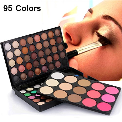 Top Amiley hot sale Cosmetic Matte Eyeshadow Cream Charms Makeup Palette Shimmer Set 95 Color gift (multicolor)