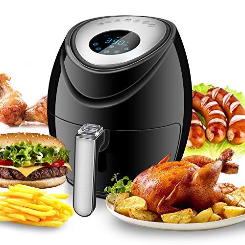 Tohsssik Air Fryer 3.7 Quart, Digital Air Fryer 1500w With