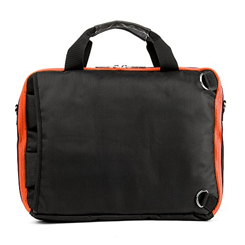 Professional Messenger Bag Backpack 2n1 for Lenovo Flex / Ideapad / Thinkpad / Chromebook 14 Laptop Schwarz / Orange 3T9cLbeEeE