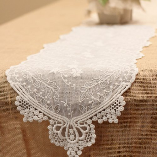 (Harvest Imports (Har-) Lace Table Runner in Ivory - 74