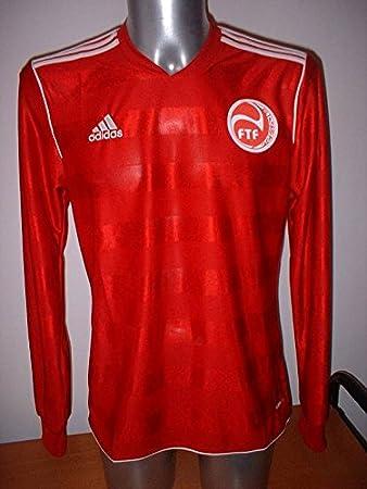 adidas Tahití Manga Larga Camiseta Jersey fútbol Adulto Mediano Camiseta de Maglia – Copa del Mundo Rojo de casa: Amazon.es: Deportes y aire libre