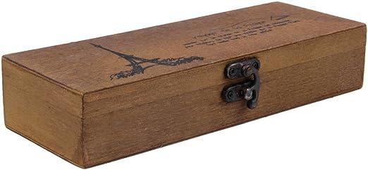 CDKJ: Estuche de madera para lápices, diseño de torre Eiffel ...