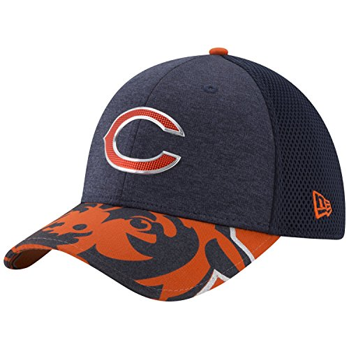 NFL Chicago Bears 2017 Draft On Stage 39Thirty Stretch Fit Cap, Large/X-Large, Navy