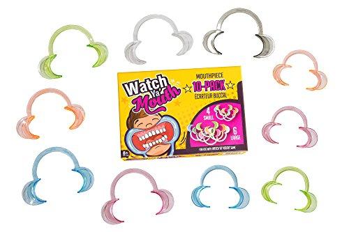 Original Watch Ya Mouth 10 Pack Colorful Mouthpiece Set 4 Small 6 Large