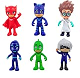 tongrou 6pcs/set Pj Masks Action Figure Characters Catboy Owlette Gekko Cloak Toys Doll
