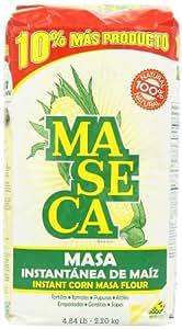 Maseca Instant Yellow Corn Masa Flour 4.84lb   Masa Instantanea de Maiz Amarillo 2.2kg