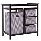 Black+Gray Wood Baby Changing Tables With Ebook