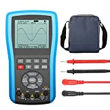 20 MHz Bandwidth, 80M/s Sampling, LIUMY Oscilloscope Multimeter, Professional Handheld LED Scopemeter Oscilloscope Multimeter, A/D Automatic Waveform Capture Functio (Blue)