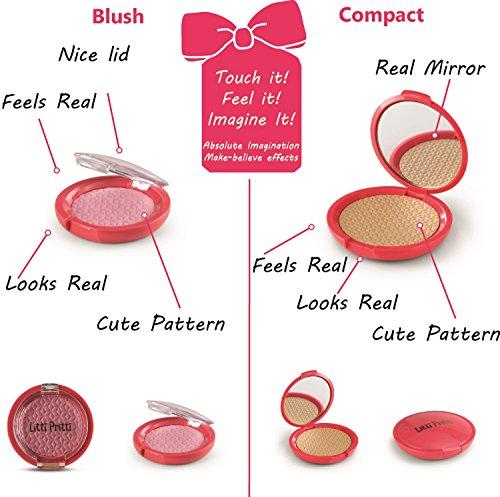 Litti Pritti Play makeup for girls 11 Piece pretend makeup set Realistic T...